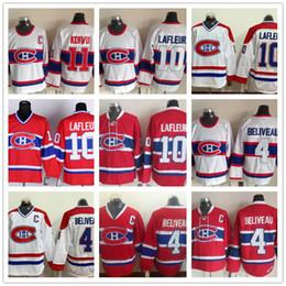 Wholesale Nylon Guy - CCM 2018 Mens Montreal Canadiens 10 Guy Lafleur 4 Jean Beliveau 1 Jacques Plante 11 Saku Koivu White Red Vintage Throwback Ice Hockey Jersey