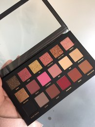 Wholesale Free Eyeshadows - DHL Free Shipping 18 Color Eyeshadow Palettes Rose Gold Texture Palette Makeup Eyeshadows Beauty Palettes Matte Sparkling Gifts
