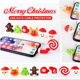 2019 telefonhalter Weihnachten kabel beißen cartoon telefon kabel usb datenleitung protector weihnachten schneemann beißen handyhalter veranstalter modell für telefon ffa1271 600 stück günstig telefonhalter