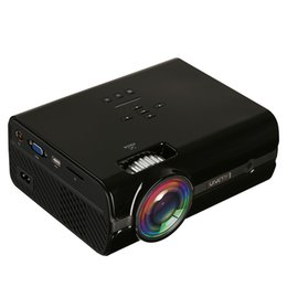 Wholesale Micro Video Projectors - U45 1800 Lumens 1080P Multimedia Portable HD LED projector Micro Home projector