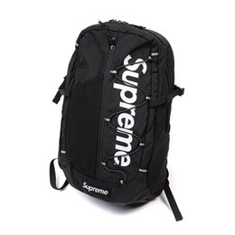 Wholesale gym covers - best version Brand Sup 17SS TONAL 42TH BACKPACK Backpack White branche Gift Original Rain Cover Nylon Backpacks Unisex Street 3m reflective