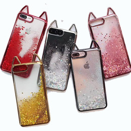 Wholesale Robot Defender - For iPhone X Glitter Liquid Case Cute Quicksand Robot Defender Cases Cover For iPhone 8 8plus 7 6S Plus