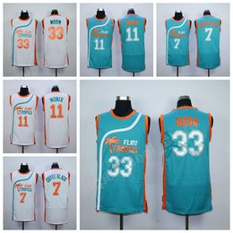 Wholesale Anti Coffee - Movie 33 Jackie Moon Jersey Flint Tropics Semi Pro Basketball 7 Coffee Black 11 Ed Monix Jersey All Stitched Green White Wholesale