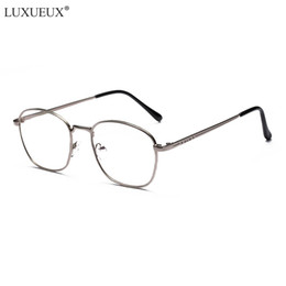 5ac6918381 Fashion Metal Flat Clear Lens Eyewear Student Computer New Small Box Myopia Eye  Glasses Frames For Men Women Vintage Glasses