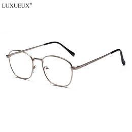 0e895ba02bc Fashion Metal Flat Clear Lens Eyewear Student Computer New Small Box Myopia  Eye Glasses Frames For Men Women Vintage Glasses