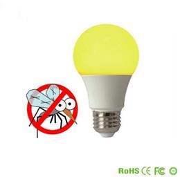 Wholesale Led Amber - Amber Yellow LED Bug Light Bulb No Blue Light Outdoor 450 650 Lumens 120V E26 5W 7W Outdoor Bug LED Warm Light Bulb