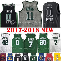 Wholesale Al Jerseys - 2018 New Men's 11 Kyrie Irving 0 Jayson Tatum Jersey 20 Gordon Hayward 7 Jaylen Brown 42 Al Horford Jerseys The City