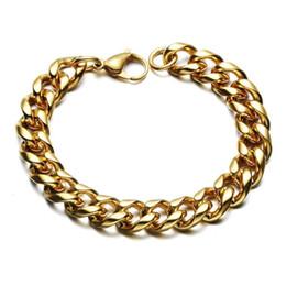 3d2cb23c1bcc colorear gruesos brazaletes Rebajas Pulseras de cadena de hombres con  facetas de Hip-hop Chunky