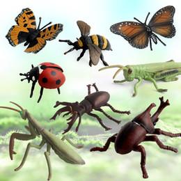 Pequenos brinquedos de fazenda on-line-8 Estilo Pequenos Modelos Animais Figuras De Ação Brinquedos Para Crianças Brinquedos De Aprendizagem Cognitiva Fazenda Paisagem Simulação Modelos De Insetos