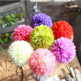 Wholesale Flower Balls For Centerpieces - Hydrangea ball flower 7 colors available 17'' H single artificial silk flowers for wedding party centerpieces home holiday decoration 13301