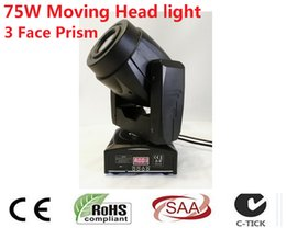 Wholesale Moving Faces - Wholesale- 75 W Gobo LED Moving Head Light 3 Face Prisma Controller DMX A 4 15 Canali per Palcoscenico Discoteca Nightclub Partito