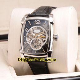 Répétition de montres-bracelets en Ligne-Kalpa Grande Complication Répétition Minutes Kalpa XL PF601525.01 Noir Squelette Automatique Montre Homme Bracelet En Cuir Bracelet Gents Montres