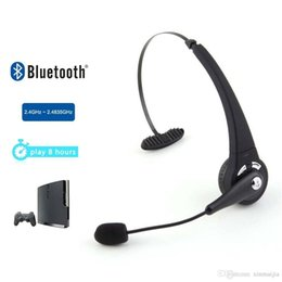 Черный Bluetooth для беспроводной гарнитуры наушники наушники с микрофоном для Sony PlayStation 3 PS3 cheap sony bluetooth headphones от Поставщики наушники sony bluetooth