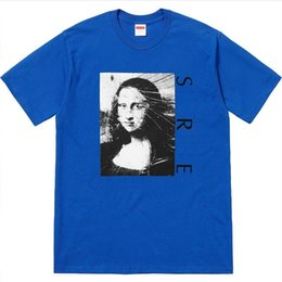 f2864c56399a 18SS SP Mona Lisa Tee Retro High Street Comfortable Loose Cotton Round Neck  Men Women Lovers Short Sleeve T-shirt HFSSTX047