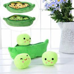 Wholesale Teddy Bear Girl Boy - 25CM Cute Kids Baby Plush Toy Pea Stuffed Plant Doll Kawaii For Children Boys Girls gift High Quality Pea-shaped Pillow Toy