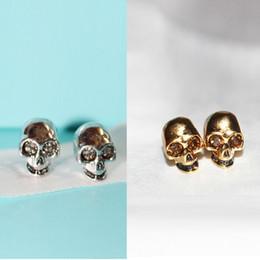 Bracelet anneau squeletté en Ligne-Crâne Tête Bracelet Marque Britannique MC-anneaux Classique Cristal Squelette Anneaux Punk Parti Femmes / homme Parti Diamant Bracelet
