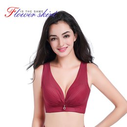 298278193f GRMANE Sexy Plus Size Lace Bra Lingerie Push Up Wire Free Bra Deep V C D E  Cup Bralette Women Underwear Backless Bra Tops 146