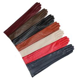 """guanti da lavoro in pelle manica con manico Sconti Lunghezze 47cm (18,5 """") in pelle di pecora nera con gomiti lunghi nero beige beige blu grigio marrone bianco"""