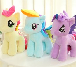"Wholesale Hot Doll Games - ""Hot-selling"" 20CM Little Pony Plush toys Dolls Set of 6 designs Cartoon Super Quality plush Dolls Free Shipping!!"