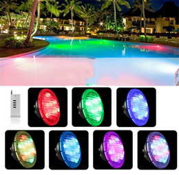 Wholesale rf ac - RGB Multi Color Mode Swimming Pool Lamp LED 54W Par56 AC 12V with RF Remote Controller for Garden Yard Fountain Landscape Decorative Lights