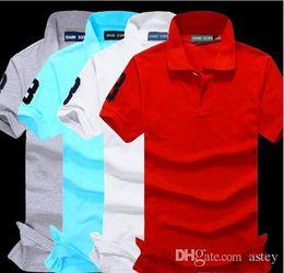 Wholesale Plus Size Shorts For Men - New Brand Men's Big Horse Embroidery Polo Shirt For Men luxury Polo Men Cotton Short Sleeve shirt jerseys bodybuilding fitness men Plus Size