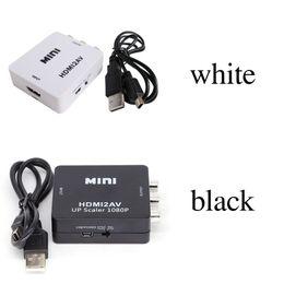 Argentina Adaptador de video HD 2018 HDMI2AV 1080P mini HDMI a AV Converter CVBS + L / R HDMI a RCA Para Xbox 360 PS3 PC360 Con embalaje al por menor Suministro