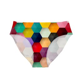 lingerie élastique en gros Promotion Noisy Designs Wholesale Mosic imprimé pour les culottes féminines Sexy sous-vêtements Calcinhas Para Mulheres mémoires sans soudure élastique Lingerie