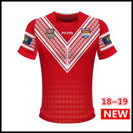 Wholesale moisture testing - Best Quality Tonga 2018 Pacific Test Jersey Rugby League shirt TONGA Rugby jerseys Shirts s-3XL