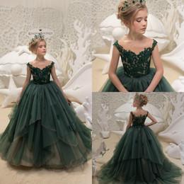 6302cae0d0e flower girl dresses size 4t Coupons - Hunter Flower Girl Dresses Applique  Ruffles Princess Party Kids