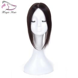 Настоящие человеческие волосы для черных женщин онлайн-2.5X5 Натуральный Черный Реми Человеческих Волос Топпер Для Женщин Бесплатная Часть Клип в Toupee Реальный Реми Человеческих Волос Toupee