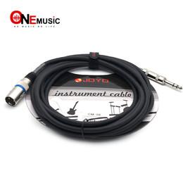 Canada JOYO Instrument Cable CM-08 Câble symétrique blindé XLR mâle à 6.3 fiche mâle 15ft Noir Offre