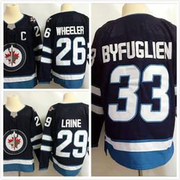 Wholesale Winnipeg Jersey - 2018 stitched AD Winnipeg Jersey 29 Patrik Laine Jersey Mens 26 Blake Wheeler 33 Dustin Byfuglien 55 Mark Scheifele Free jerseys
