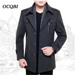ab903971421 Plus Size 2018 Winter Wool Mens Clothing Overcoats Slim Smart Casual  Fashion Dress Coat Mens Zippers discount mens fashion smart casual