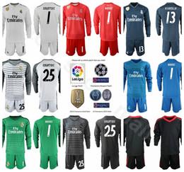 Portero GK Fútbol Real Madrid Largo 1 Conjunto de camiseta Iker Casillas  Conjunto de campeones 1 Keylor Navas 13 Casilla Thibaut Courtois Fútbol  Kits ... 3b9778b55e051