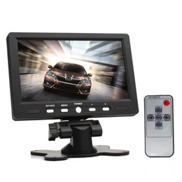 Wholesale Video Headrest - 7 Inch HD Car Rearview Headrest Monitor 2 Video Input 800 x 480 Color TFT LCD Screen AV HDMI VGA Car Rear View Monitor CMO_338