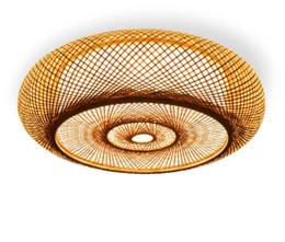 rustikale deckenleuchten Rabatt Handgewebte Bambus Wicker Rattan Runde Laterne Schatten Decke Leuchte rustikale asiatische japanische Plafon Lampe Schlafzimmer Wohnzimmer LLFA