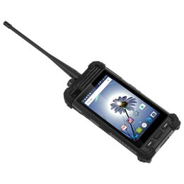 Wholesale chinese big screen mobile phone - 4G Analog DMR Walkie Talkie Mobile Phone 4.7 Inch Screen IP67 Wateproof 5300mAh Big Battery Android 6.0 Quad Core NFC