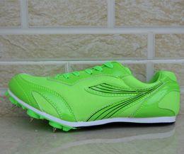Zapatillas deportivas para correr para pista deportiva para hombre Pista de carrera profesional para hombre Zapatillas de entrenamiento para mujer de 100 m Sprint EUR 35 ~ 46 # 5258 desde fabricantes