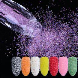 2019 gafas brillantes Mini perlas de caviar Crystal Tiny Rhinestones Glass Micro Bead para uñas DIY Colorful 3D Glitter Nail Art Decorations rebajas gafas brillantes