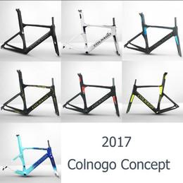 Wholesale Colnago Road Bikes Frame - colnago concept road bike carbon frames full carbon fiber frameset road bike frame T1000 BB386 XXS XS S M L XL
