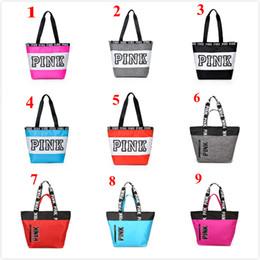 Wholesale storage supplies wholesale - 2018 New 9 Colors Pink Duffel Bags Outdoor Storage Bag Lady Travel Bag Waterproof Nylon Beach Shoulder 7 pcs Maternity Supplies