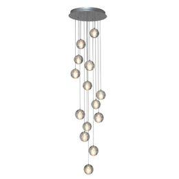 26 lumières Lustre en cristal moderne chaude / lampe à boule de verre transparent lampe de salon LED de base en acier chromé brillant ? partir de fabricateur