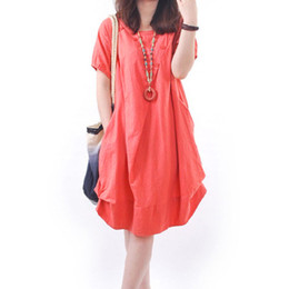 1bc4acced23 Summer Dress Beach Dress 2018 Casual Solid Loose Cotton Linen Vintage Midi  Dress Vestidos Mujer 2018