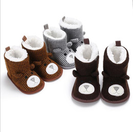 Wholesale Wholesale Winter Boots For Men - Winter Warm Baby Boy Shoes First Walkers Knitted Sweaters Boots Booty Crib Babe Girls Toddler Boy Shoe For 0-1 Year