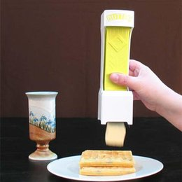 Wholesale Serving Pieces - Butter Cheese Cutter Stainless Steel Slices Slicer Squeeze Serves Stores Chocolate Make Piece Kitchen Gadgets Cooking Tools