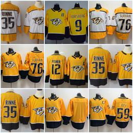 35 Pekka Rinne 2017-2018 Season Nashville Predators 76 P.K. Subban 59 Roman  Josi 12 Mike Fisher 9 Filip Forsberg Ice Hockey Jersey 07dd70ffe