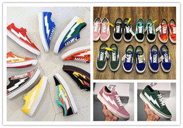 Tabla de skate b online-2018 NUEVA Revenge X Storm Old Skool Hombres Mujeres Zapatillas de skateboard Low Cut Skateboard Top Quatily Casual Shoe Sports Sneakers
