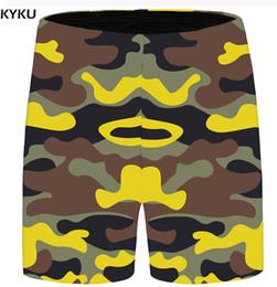 KYKU Marca Camo Shorts Homens Cool Beach Casual Calções de Carga Do Vintage  3d Impresso Mens Calças Curtas 2018 Nova Moda Verão e9561761a598c