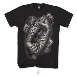 Tatuagem dos homens camisetas on-line-OGABEL OG Abel Tatuagem dos homens Mãos 018 T Preto Cartões de Amor Roupas de Tinta Appa Verão Mangas Curtas T-Shirt de Algodão top tee