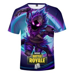 Camisetas por atacado on-line-Característica por atacado Impressão Digital 3D Mens Designer T-shirt Personalidade Tendência Respirável Fortnite Tee Confortável Fortnite T-shirt